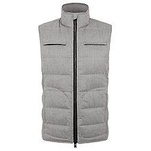 Buy Aquascutum Mills Gilet, Grey Online at johnlewis.com