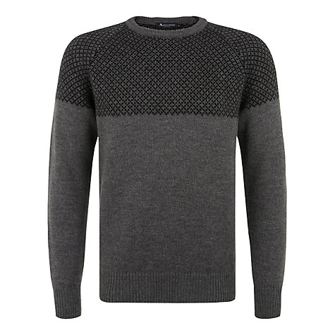 Buy Aquascutum Latimor Dual Stitch Knit Jumper, Grey Online at johnlewis.com
