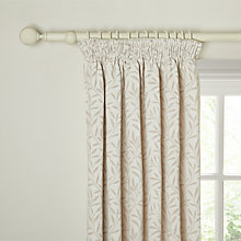 Buy John Lewis Amber Leaf Lined Pencil Pleat Curtains Online at johnlewis.com