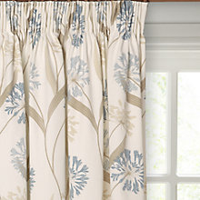 Buy Maggie Levien for John Lewis Ariana Lined Pencil Pleat Curtains, Duck Egg Online at johnlewis.com
