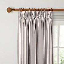 Buy John Lewis Alban Stripe Lined Pencil Pleat Curtains, Grey Online at johnlewis.com