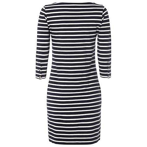 Buy White Stuff Stylist Dress, Dark Blue Velvet Online at johnlewis.com