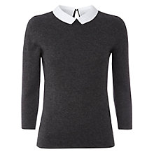 Buy White Stuff Doris Detachable Collar Jumper, Coal Online at johnlewis.com