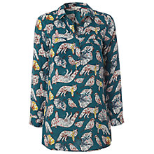 Buy White Stuff Fox Print Tunic Top, Heritage Green Online at johnlewis.com