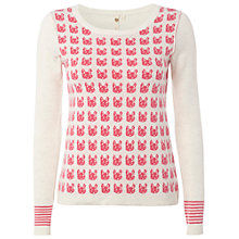 Buy White Stuff Renard Jumper, Snapdragon/Cream Online at johnlewis.com