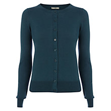 Buy Oasis Crew Cardigan, Teal Green Online at johnlewis.com