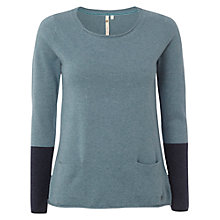 Buy White Stuff Plain Walkin Knitted Jumper, Blue Mist Online at johnlewis.com