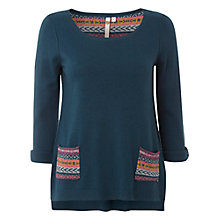 Buy White Stuff Anya Two Pocket Jumper, Privet Green Online at johnlewis.com