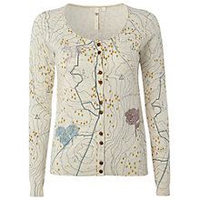 Buy White Stuff Map Cardigan, Pebble White Online at johnlewis.com