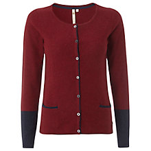 Buy White Stuff Contrast Pencil Cardigan, Red/Ink Online at johnlewis.com