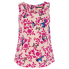 Buy Oasis Shadow Bird Butterfly Vest, Multi Pink Online at johnlewis.com