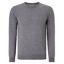 Buy John Lewis Made in Italy Merino Cashmere Crew Neck Jumper, Grey Online at johnlewis.com