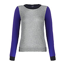Buy Jigsaw Cashmere Colour Block Sweatshirt Online at johnlewis.com