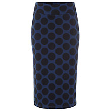 Buy White Stuff Write Me Spot Midi Skirt, Blue Biro Online at johnlewis.com