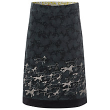 Buy White Stuff Embroidered Horse Skirt, Privet Green Online at johnlewis.com