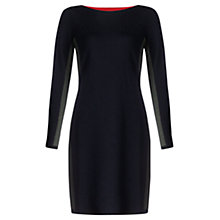 Buy Jigsaw Colour Block Knitted Wool Dress, Navy Online at johnlewis.com