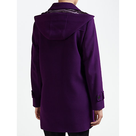 Buy Four Seasons Plain Duffle Coat, Purple Online at johnlewis.com