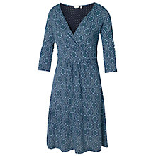 Buy Fat Face Connie Morocco Print Wrap Dress, Navy Online at johnlewis.com