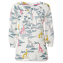 Buy White Stuff Prancing Dog Print Top, Enamel Online at johnlewis.com