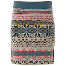 Buy White Stuff Knit Me Quick Patterned Skirt, Dark Enamel Online at johnlewis.com