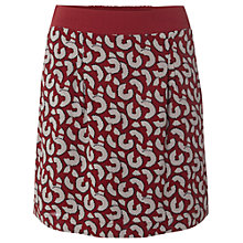 Buy White Stuff Pencil Shaving Skirt, Red/White Online at johnlewis.com