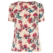 Buy Oasis Tropical Bird Tee, Off White Online at johnlewis.com