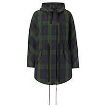 Buy Jigsaw Tartan Check Parka, Navy Online at johnlewis.com