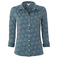 Buy White Stuff Annabel Print Crinkle Shirt, Privet Green Online at johnlewis.com