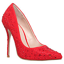 Buy Carvela Gemini Embellished High Heeled Courts, Red Online at johnlewis.com
