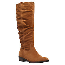 Buy Carvela Wilt Suede Ruched Effect Knee Boots, Tan Online at johnlewis.com