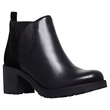 Buy Carvela Syd Suede / Leather Panel Ankle Boots, Black Online at johnlewis.com