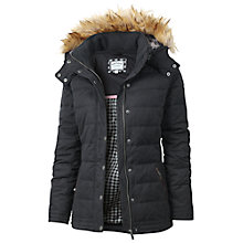 Buy Fat Face Ellie Puffer Faux Fur Trim Jacket, Phantom Online at johnlewis.com