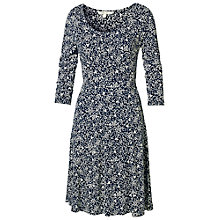 Buy Fat Face Portland Leaf Dress, Navy Online at johnlewis.com
