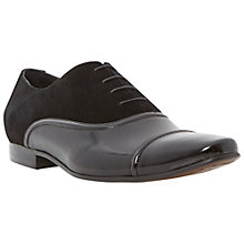 Buy Dune Radical Leather Oxford Shoes, Black Online at johnlewis.com