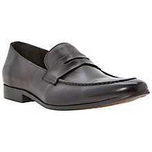 Buy Dune Racehorse Leather Loafer Shoes, Black Online at johnlewis.com