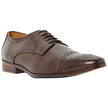 Buy Dune Rich Leather Brogue Shoes, Brown Online at johnlewis.com