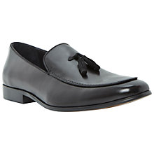 Buy Dune Rodney Leather Tassel Loafers, Black Online at johnlewis.com