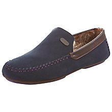 Buy Ted Baker Suede Ruffas Slippers, Dark Blue Online at johnlewis.com