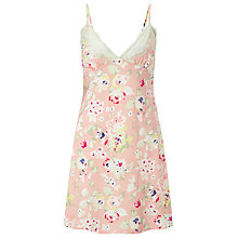 Buy COLLECTION by John Lewis Ella Printed Satin Chemise, Pink / Multi Online at johnlewis.com
