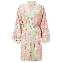 Buy John Lewis Ella Printed Satin Kimono, Pink / Multi Online at johnlewis.com