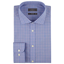 Buy John Lewis End-On-End Check Tailored Shirt, Blue/Pink Online at johnlewis.com
