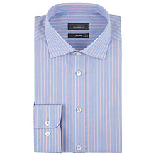 Buy John Lewis End-On-End Stripe Tailored Shirt, Blue/Pink Online at johnlewis.com