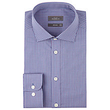 Buy John Lewis Micro Check Tailored Shirt, Blue/Pink Online at johnlewis.com