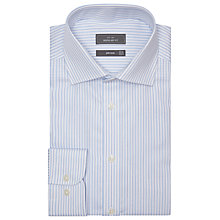 Buy John Lewis Evergreen Twill Stripe XL Sleeve Shirt, Blue Online at johnlewis.com
