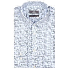 Buy John Lewis Mini Cube Linen Shirt, White/Blue Online at johnlewis.com