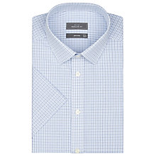 Buy John Lewis Micro Check Tailored Shirt, Blue/White Online at johnlewis.com