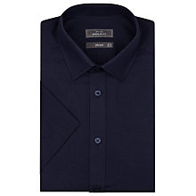 Buy John Lewis Cotton Linen Short Sleeve Shirt, Navy Online at johnlewis.com