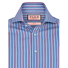 Buy Thomas Pink Woolaton Stripe Double Cuff Shirt, Blue/Red Online at johnlewis.com
