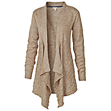 Buy Fat Face Balmore Waterfall Cable Cardigan, Biscuit Online at johnlewis.com