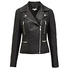 Buy Whistles Jett Leather Jacket, Black Online at johnlewis.com